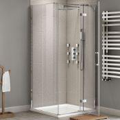 New (G17) 900x900mm - 8mm - Designer Easy clean Hinged Door Shower Enclosure. RRP £360.99.We ...