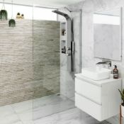 New (G16) 1000mm - 8mm - Premium Easy clean Wet room Panel. RRP £499.99.8mm Easy clean Glass ...