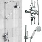 New (J78) Edwardian Dual Traditional Thermostatic Shower Mixer + Rigid Riser + Diverter. This T...