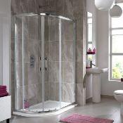 New (J13) 1200 x 800mm Offset 2 Door Quadrant Shower Enclosure Uses The Innovative Click Lock ...