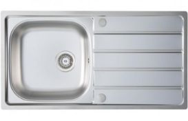 New (J81) Prima 1 Bowl Inset Sink & Drainer 965x500mm - Stainless Steel (Cpr024). A Prima 1 Bow...