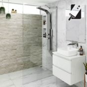 New (J53) 900mm - 8mm - Premium Easy clean Wet room Panel. RRP £349.99.8mm Easy clean Glass - Ou...