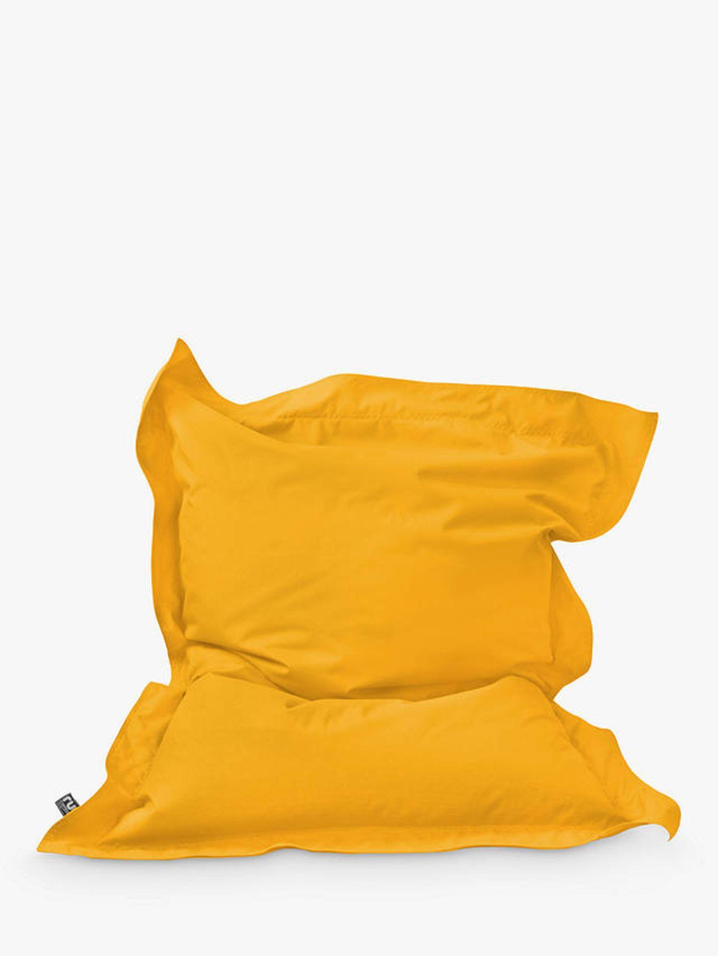 Rucomfy Junior Squashy Squarbie Indoor/ Outdoor Bean Bag yellow