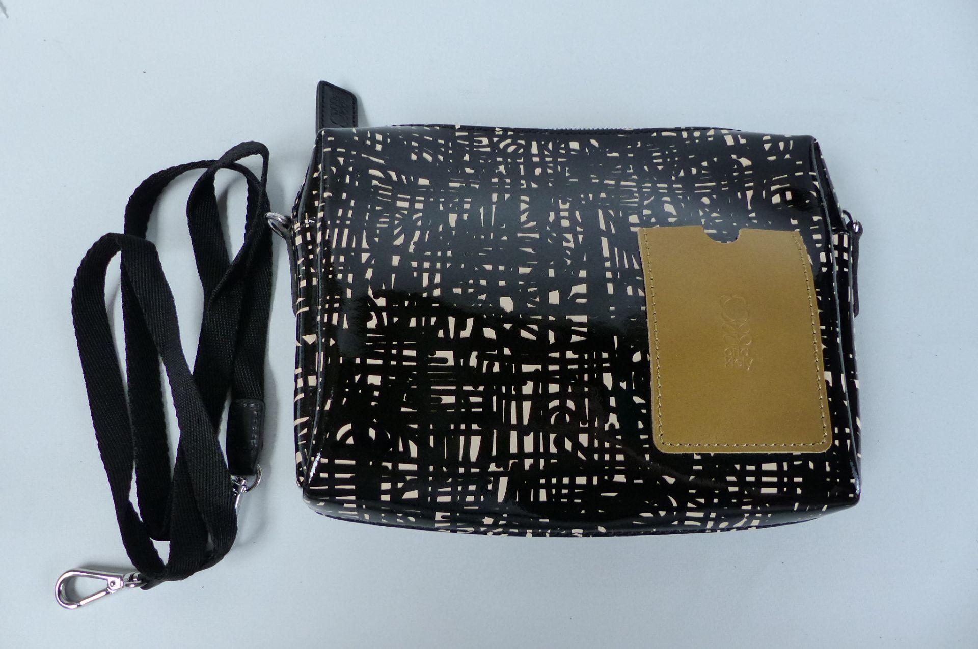 Orla Kiely Textured Leather cross body bag