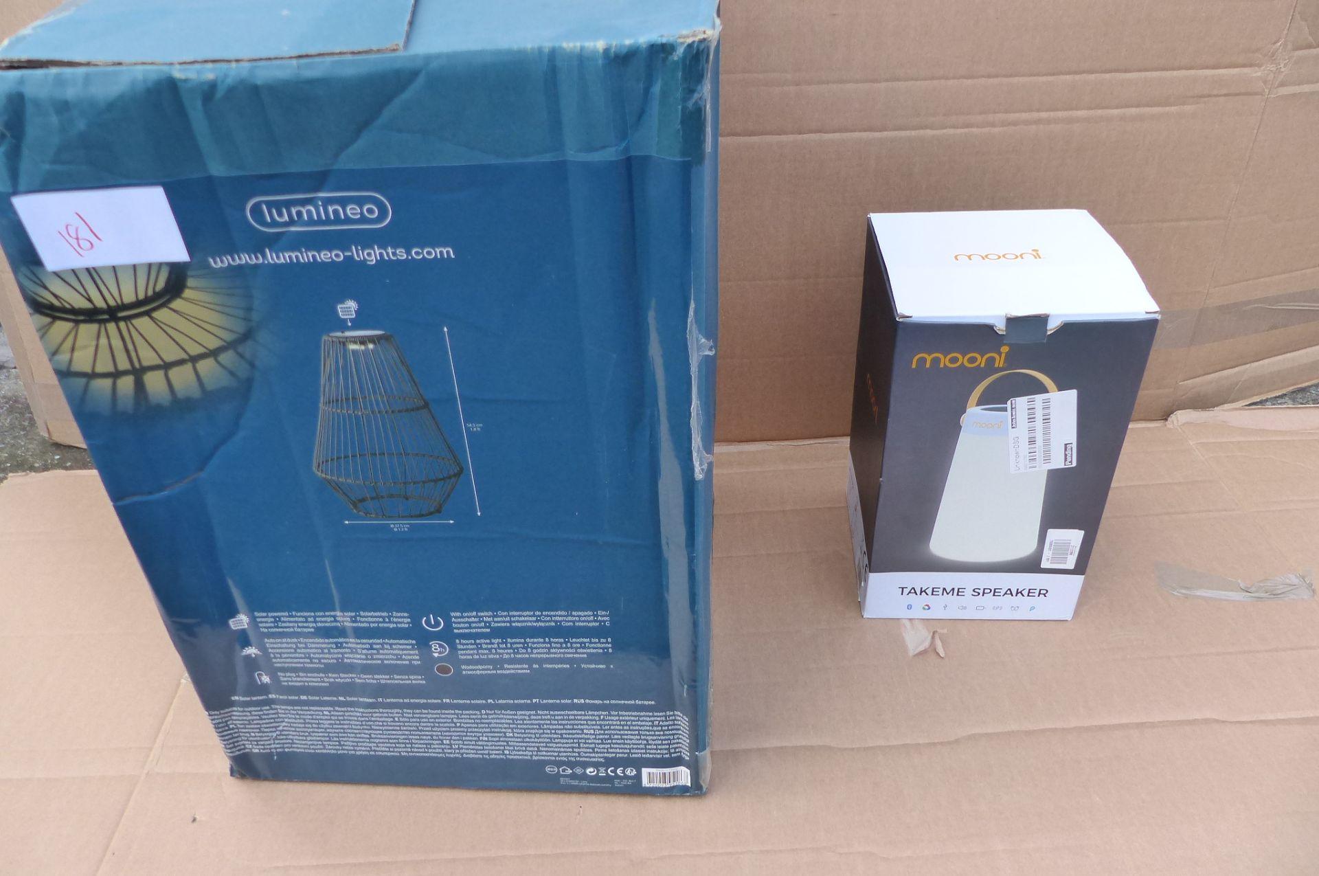 Mooni Light & Speaker + Lumineo lantern SKU181