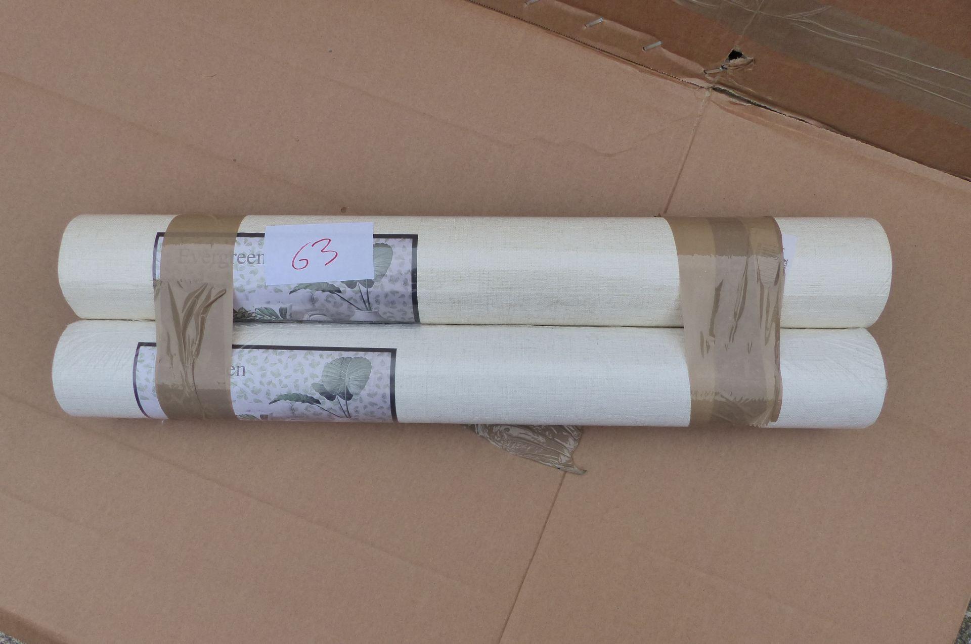 2 x Galerie Linen Plain Wallpaper