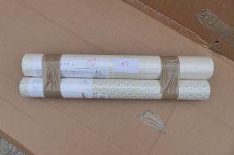 2 x Rolls Wallpaper 1 Osborne & Little W6293-03 & 1 Baker Lifestyle Hawkbury PW 78027/2