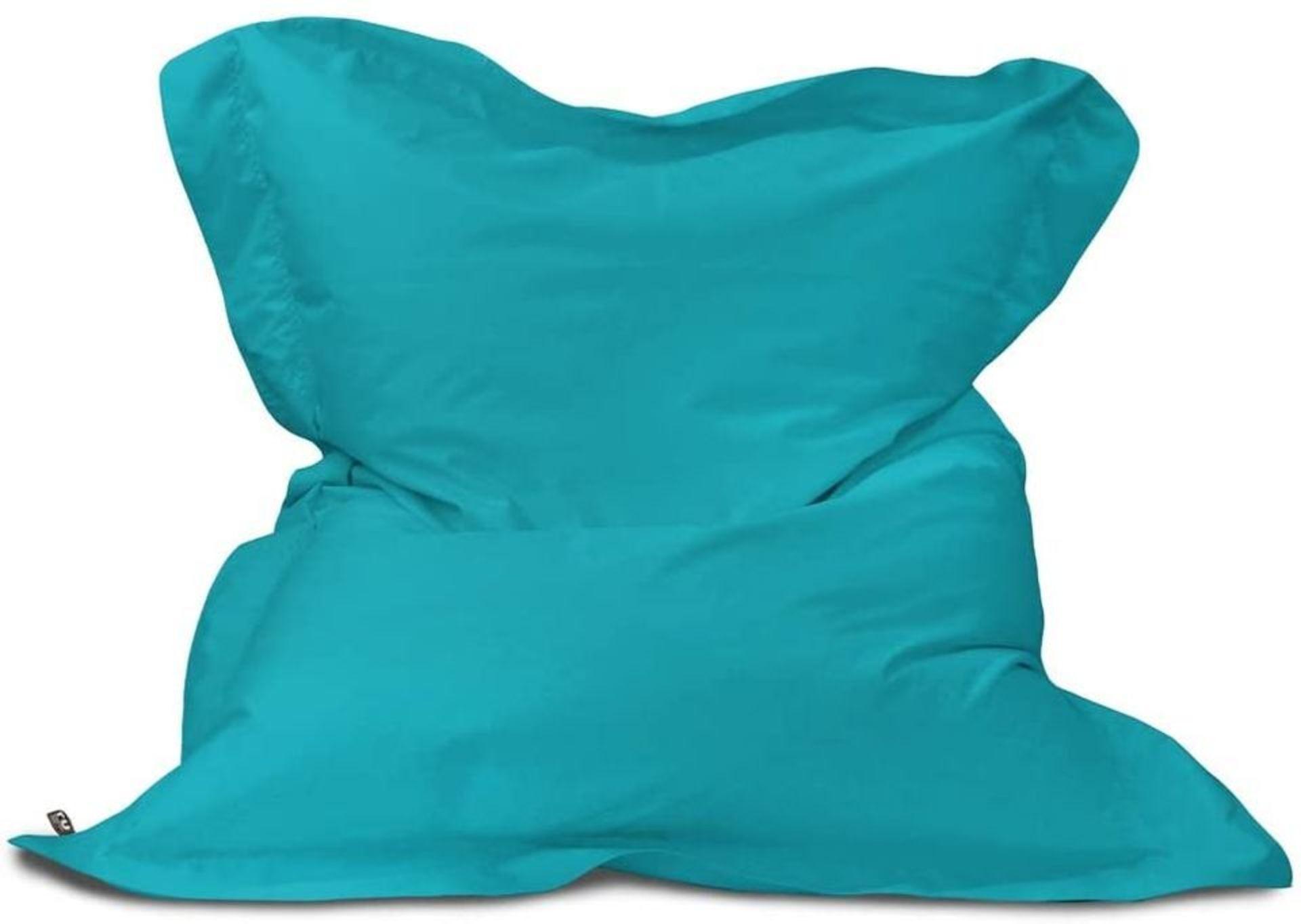 Rucomfy Junior Squashy Squarbie Indoor/ Outdoor Bean Bag Turquoise