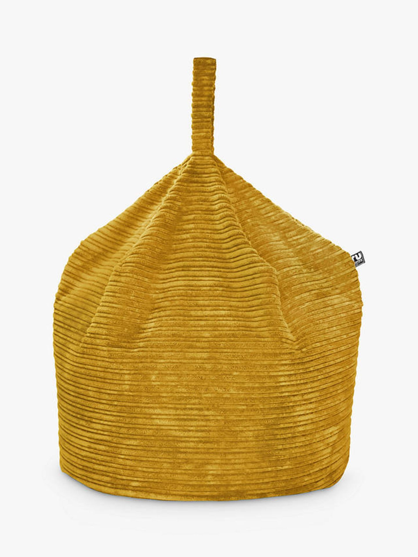 Rucomfy jumbo cord handle bean bag Mustard *COLLECTION ONLY*