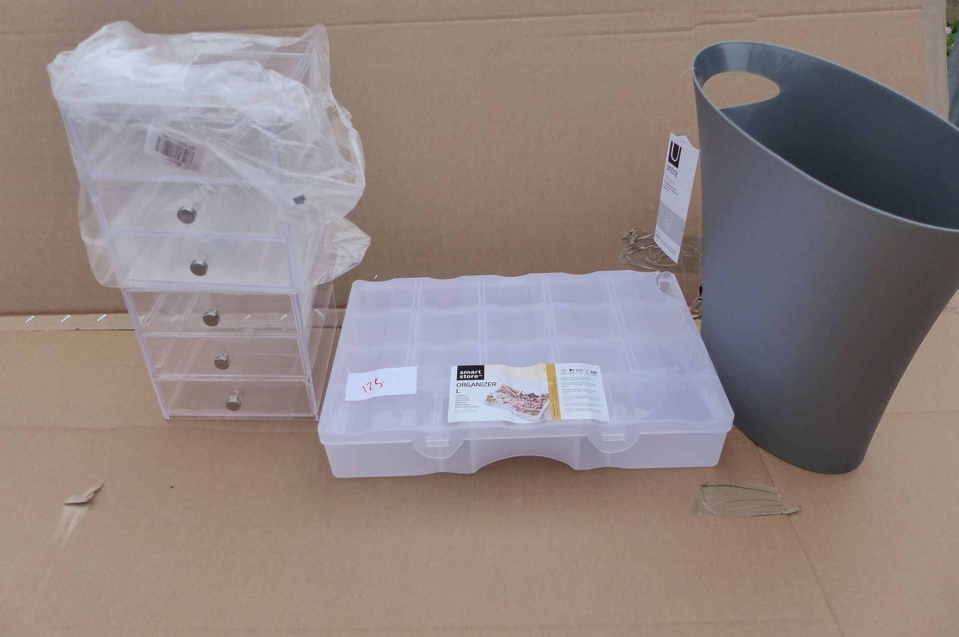 4 items Storage boxes and Umbra bin