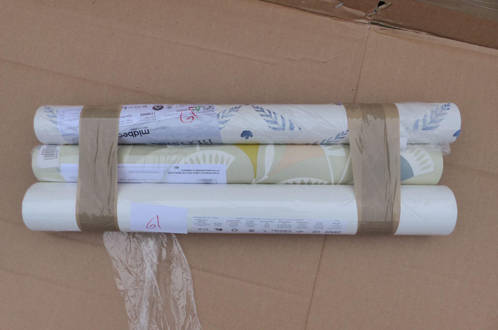 3 Rolls of Wallpaper Scion & Boråstapeter