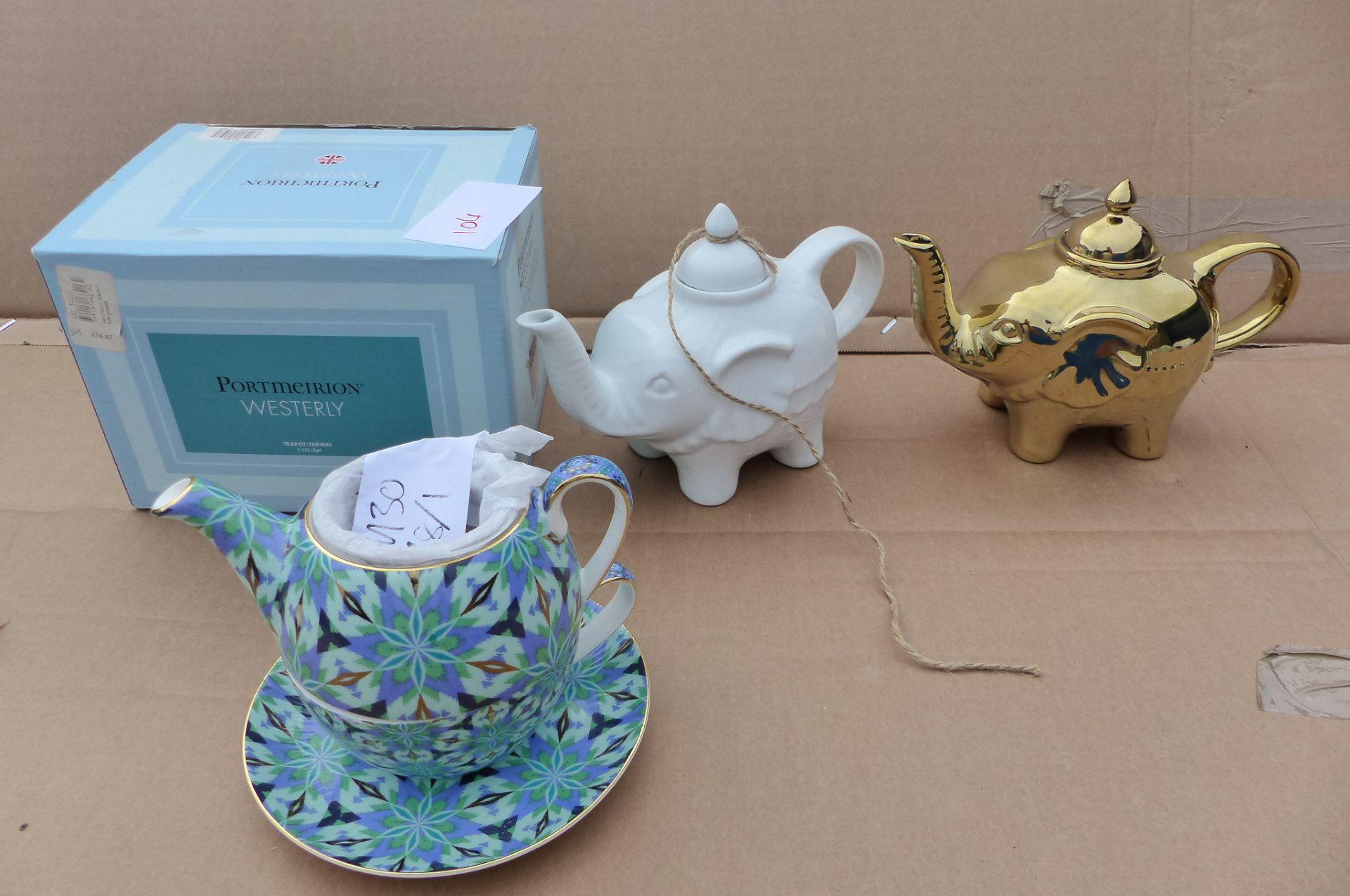 4 items Portmeirion, T2 Teapots
