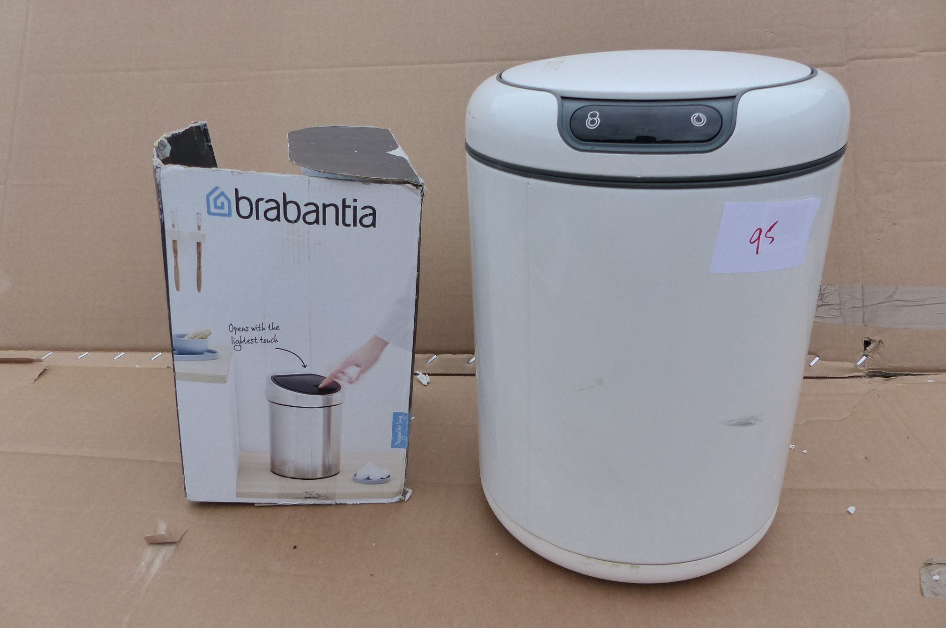 2 Waste bins EKO Sensor bin and Brabantia