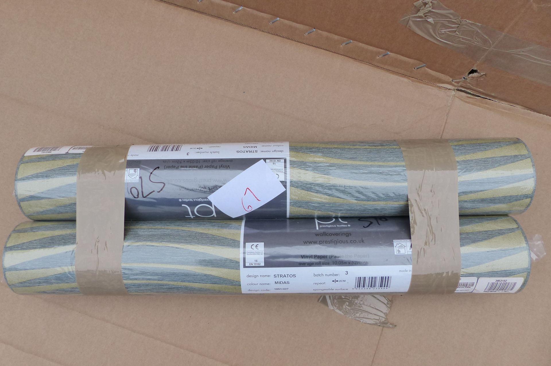 2 Rolls of Prestigious Textiles Wallpaper Stratos 1651/427
