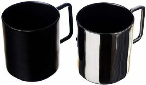 5 x Just Slate Company Black and Silver Mugs In gift box