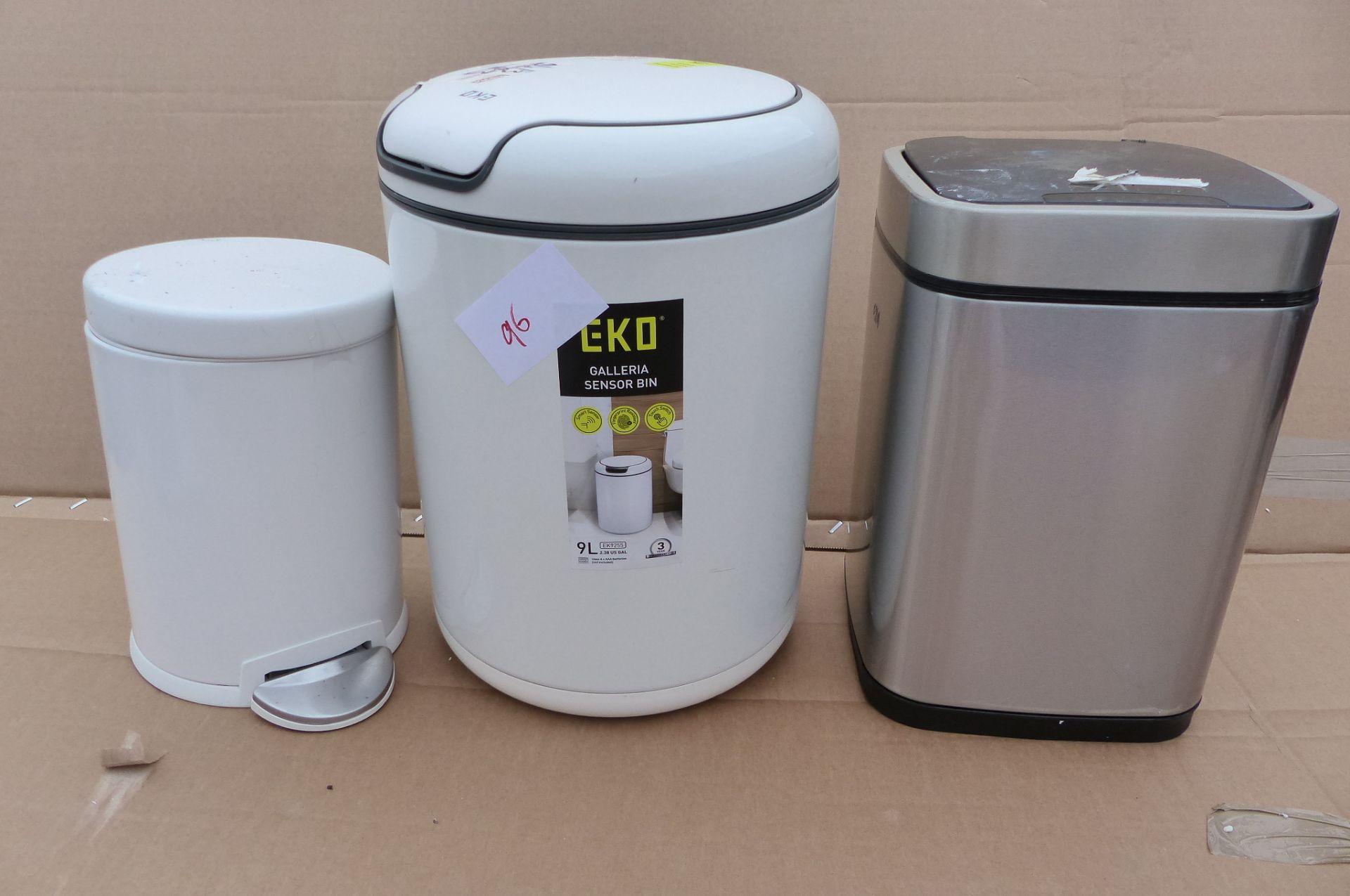 3 Waste bins to include EKO Sensor bin