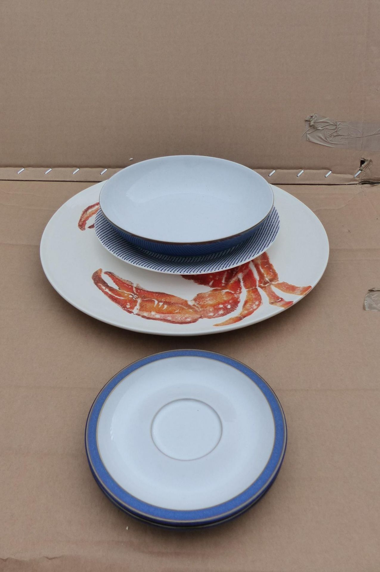 5 items to include large serving platter and Denby bowl and saucers