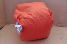 Rucomfy Indoor / Outdoor Bean Cube Orange