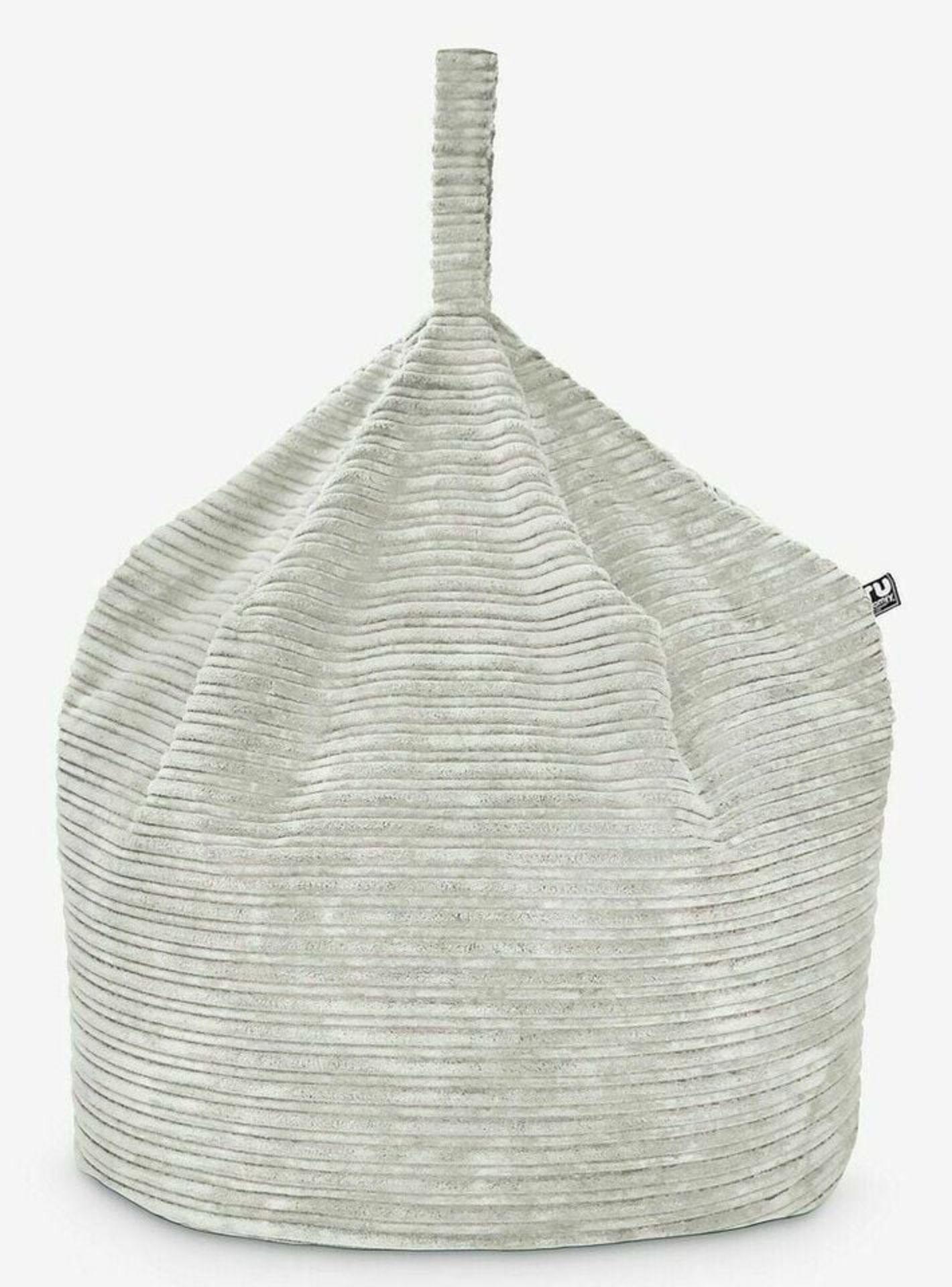 Rucomfy Jumbo Cord Medium Handle Bean Bag Platinum - COLLECTION ONLY