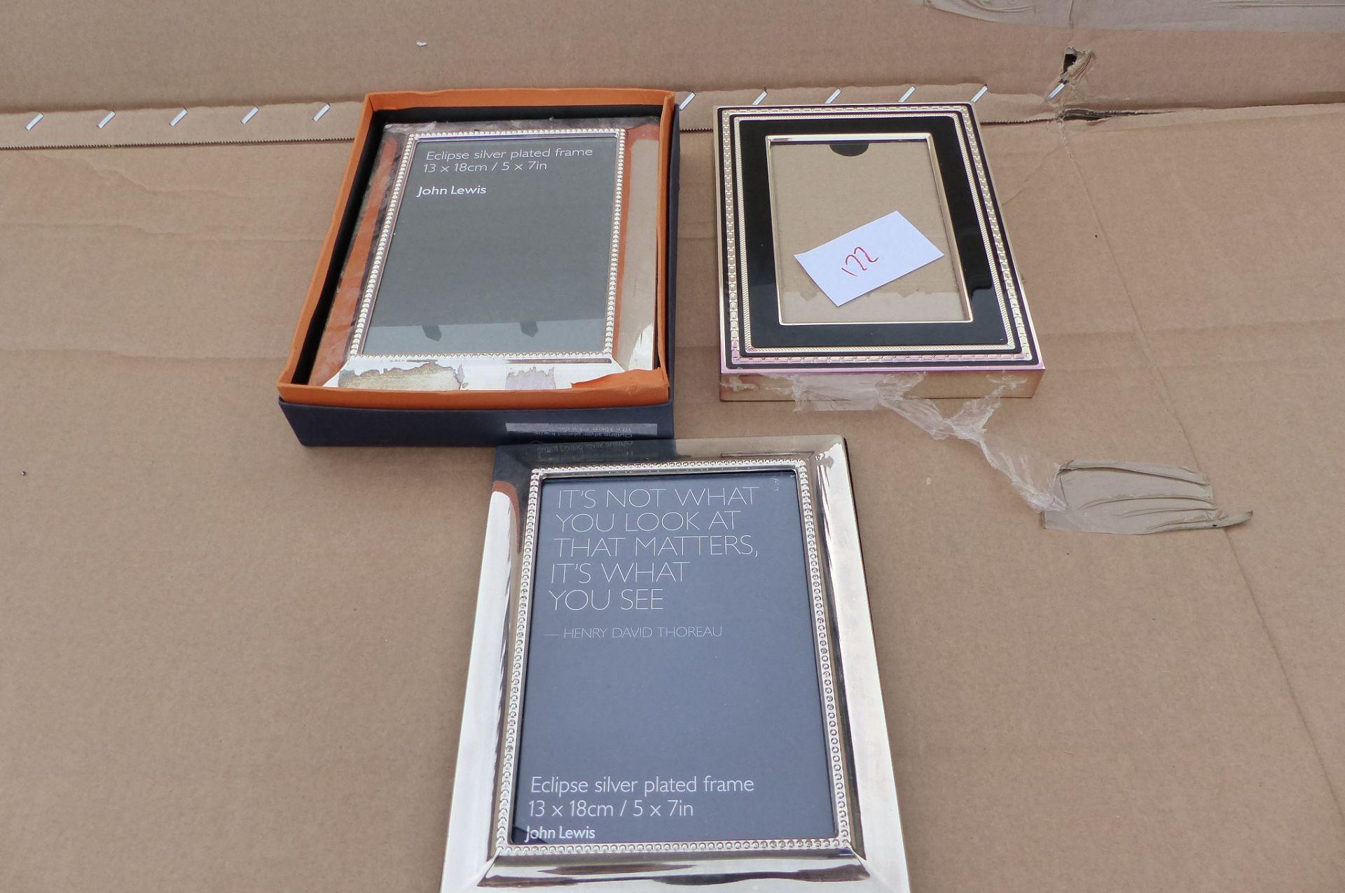 3 Picture frames Vera Wang & John Lewis