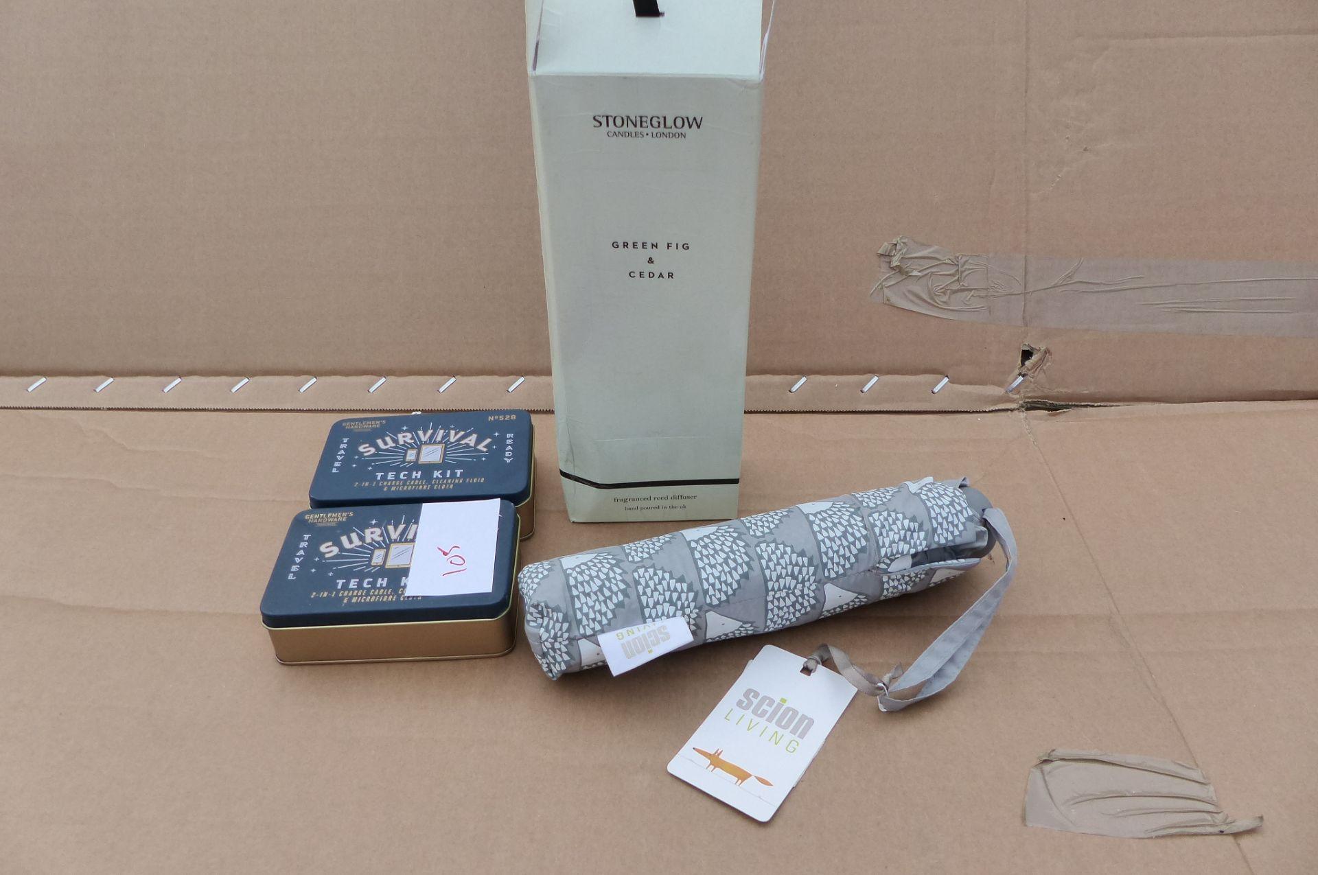 4 items Scion Umbreella, Stone Glow Diffuser
