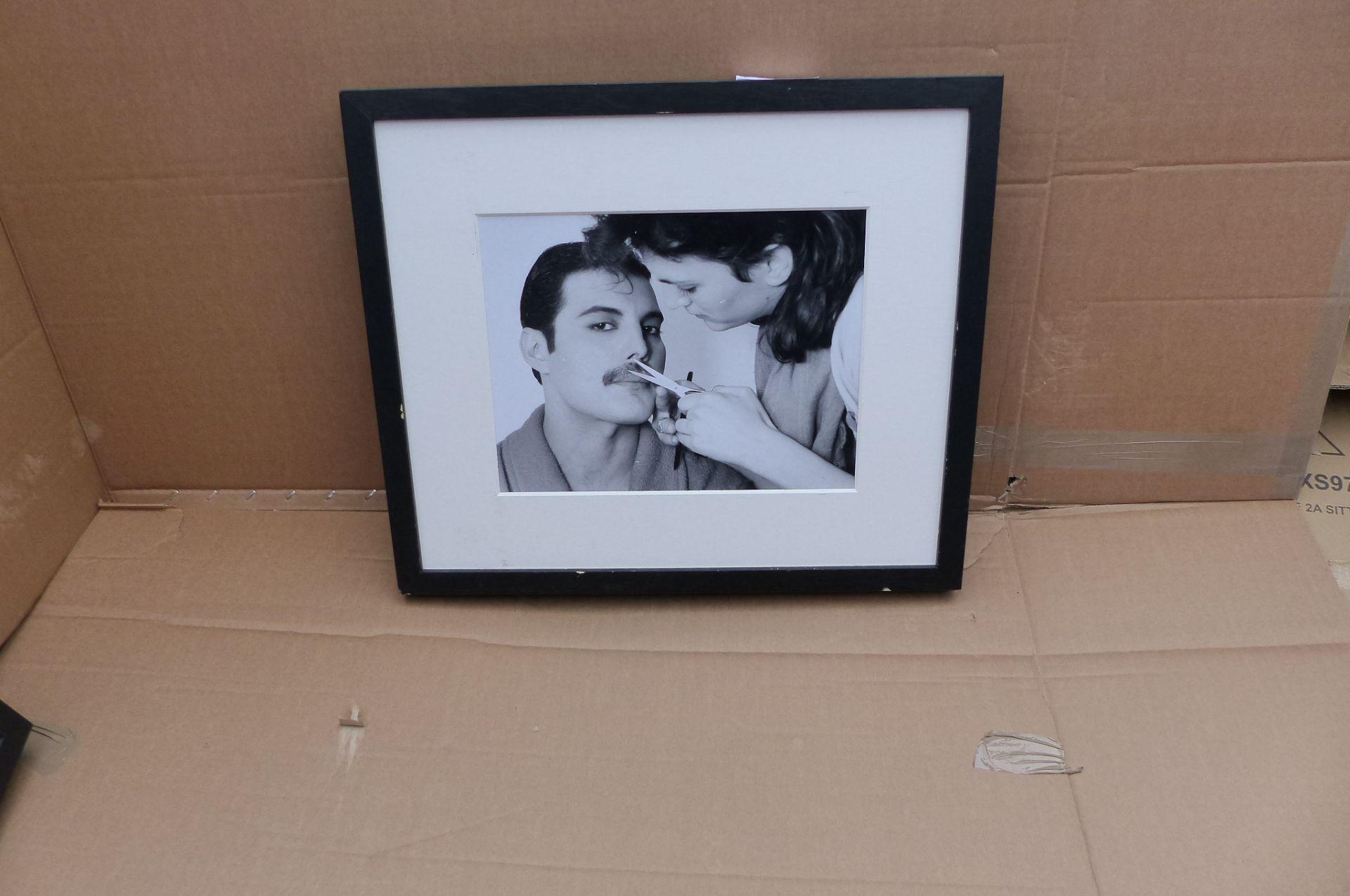 Getty Images Gallery - Grooming Freddie Mercury Wood Framed Print & Mount, 49.5 x 57.5cm