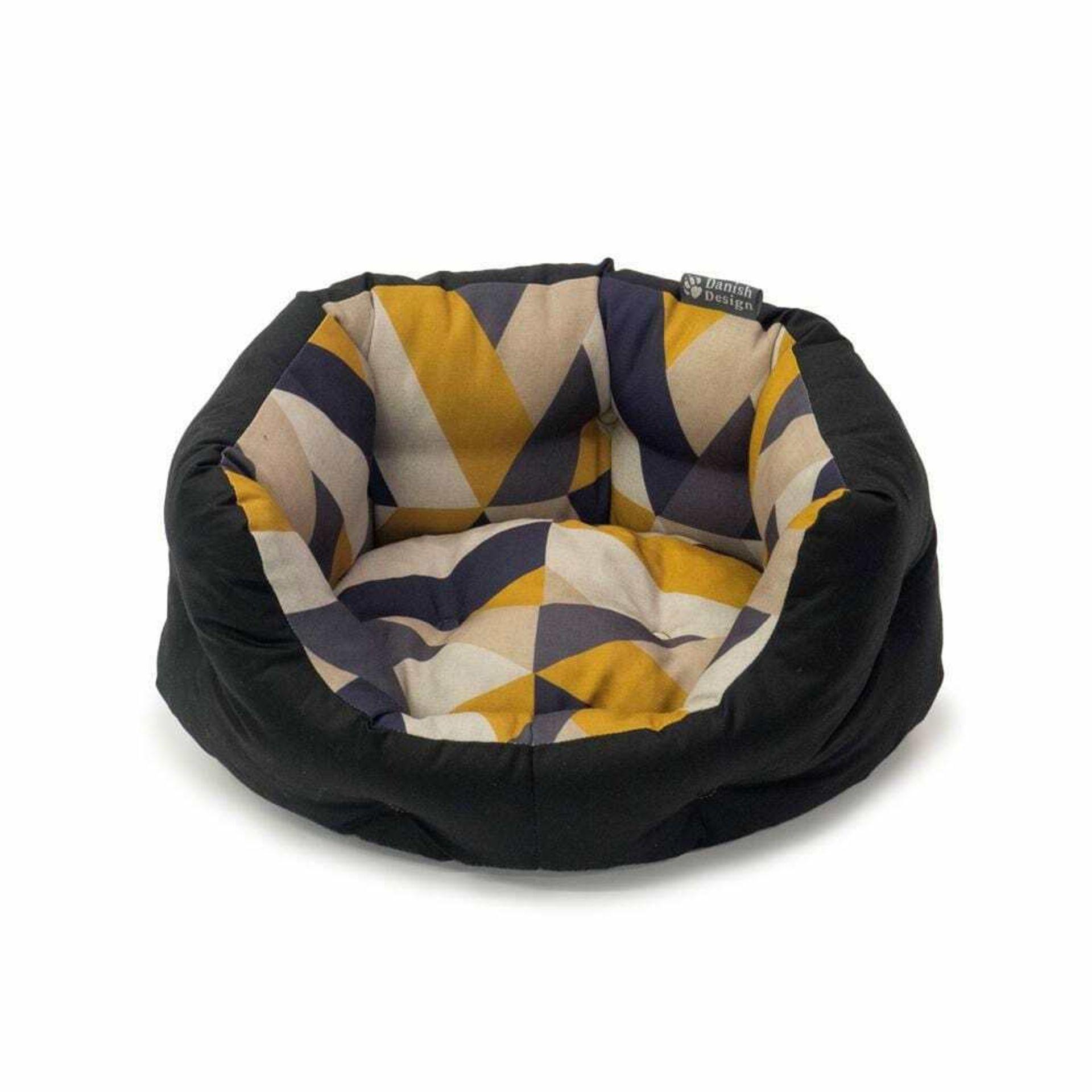 Danish Design Retreat Eco-Wellness Geo Tile Luxury Dog Bed Medium
