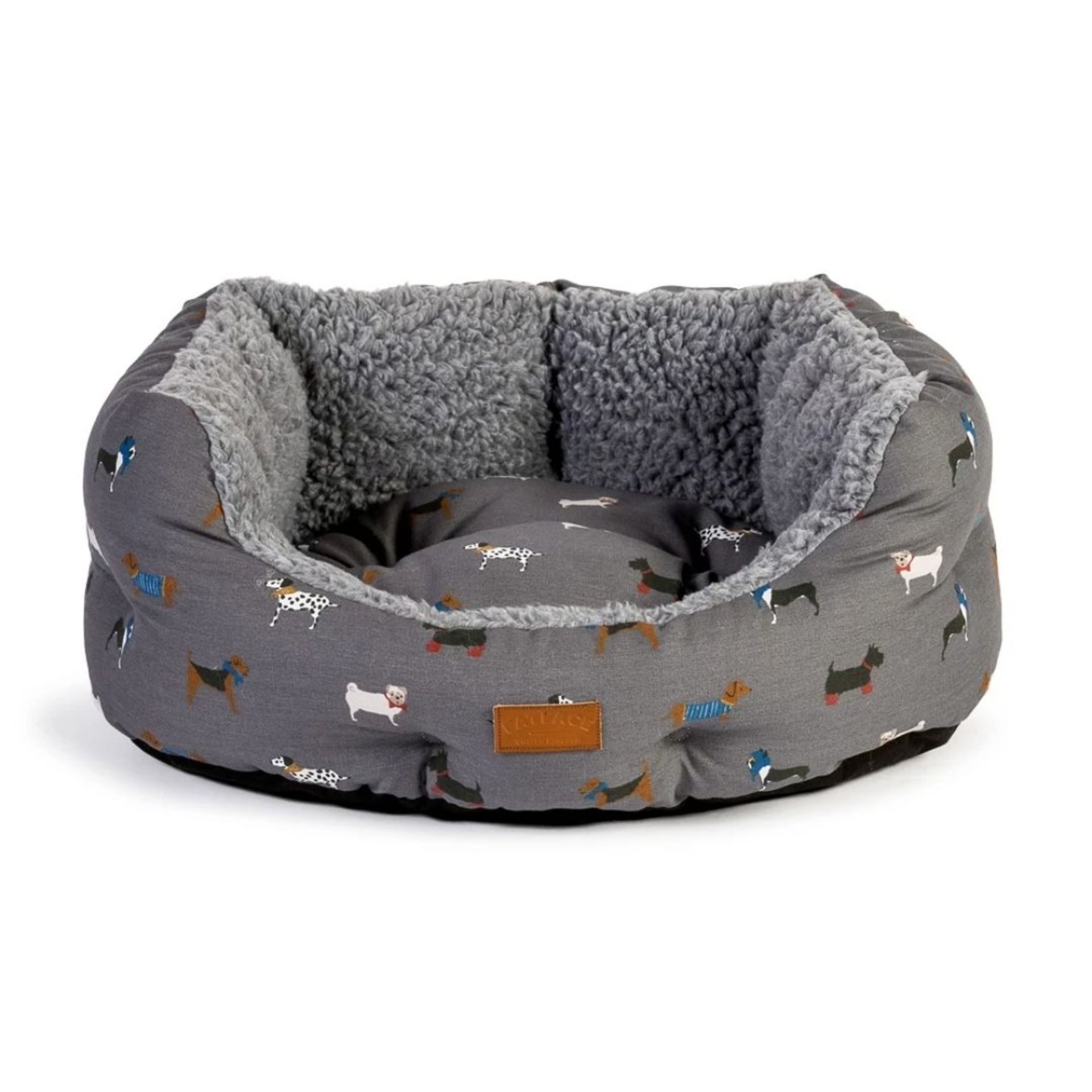 FatFace Marching Dogs Deluxe Slumber Dog Bed M/L