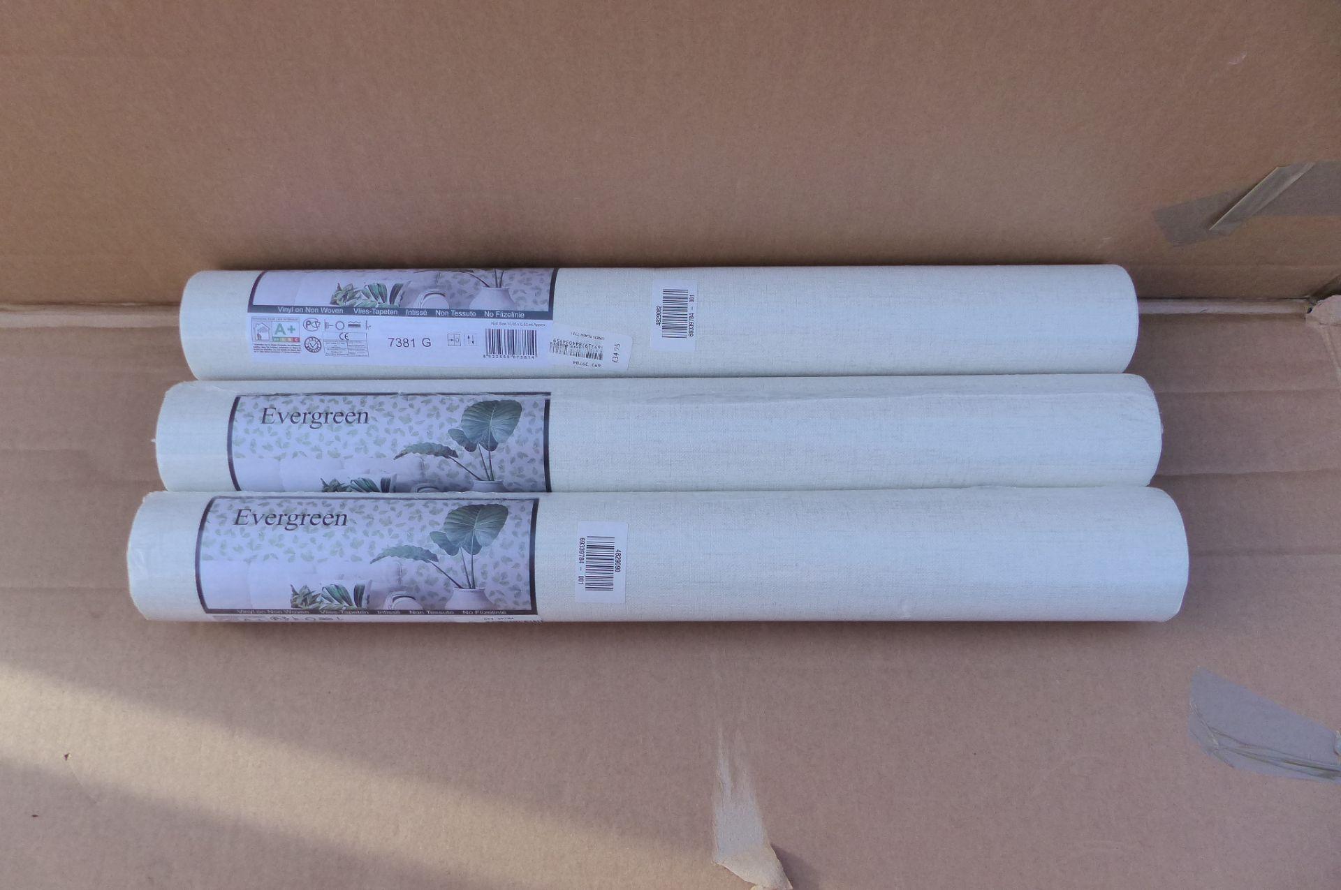 3 xGalerie Linen Plain Wallpaper, 7381 SKU185