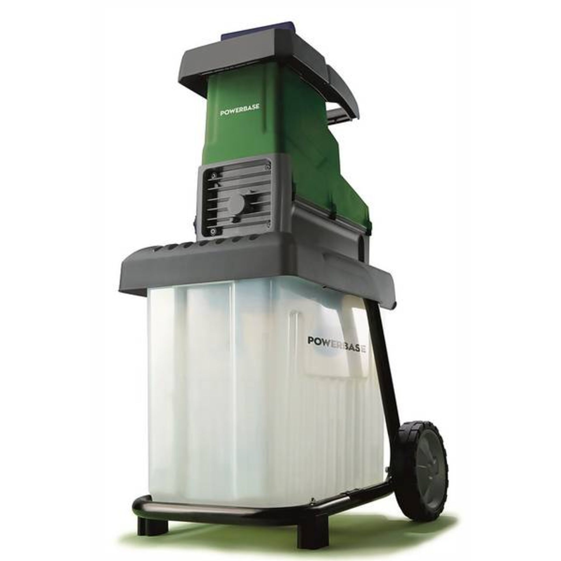 (P3) 1x Powerbase 42cm 2800W Electric Silent Shredder. RRP £175.00. Unit Appears Clean, Unused With