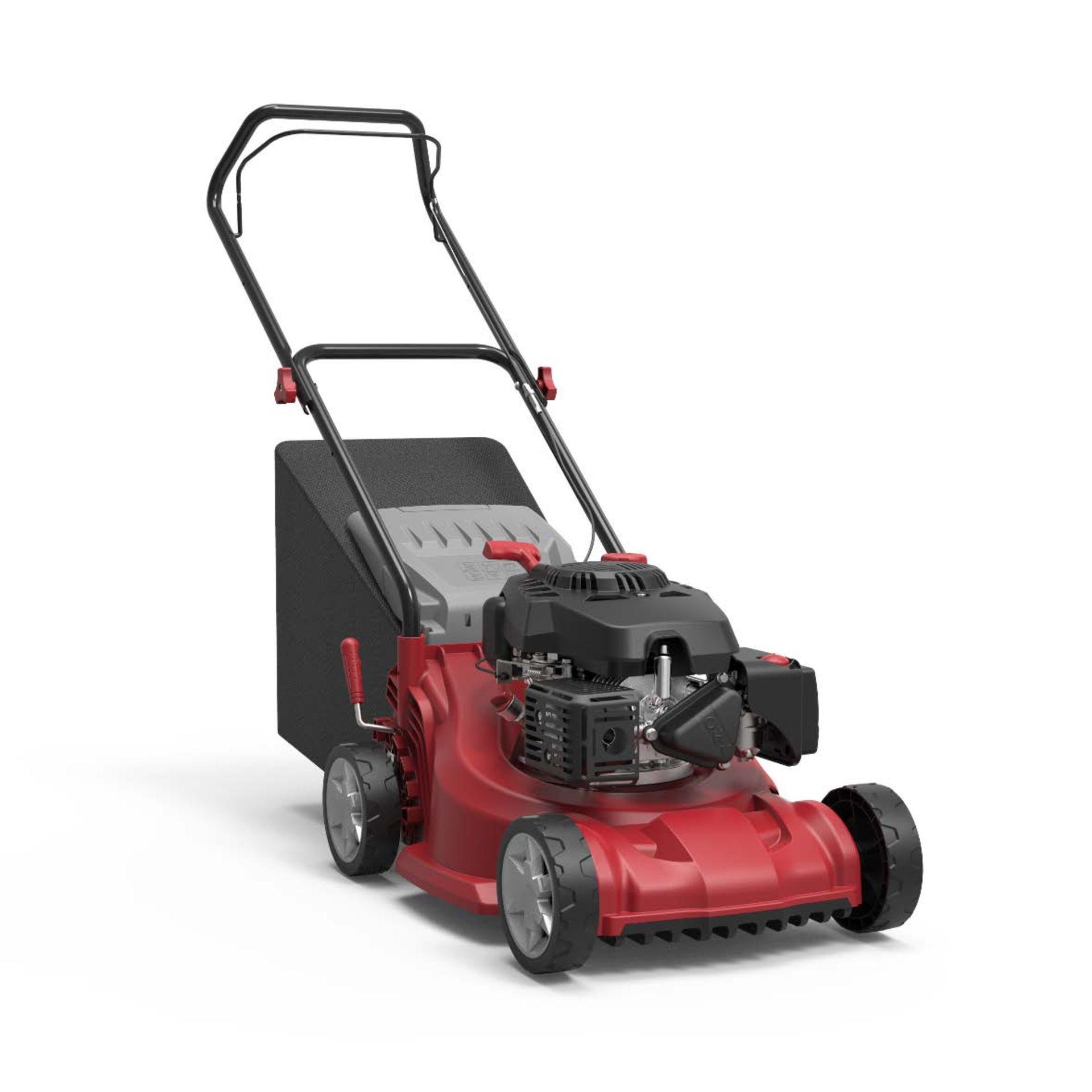 (P2) 1x Sovereign 40cm Push Petrol Lawn Mower. £159.00. 127.1cc Engine, 40cm Cutting Edge, 45L Coll