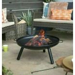 (P3) 2x La Hacienda Pennsylvania Midi Firepit. RRP £79.99. (H27x W68x D59cm)