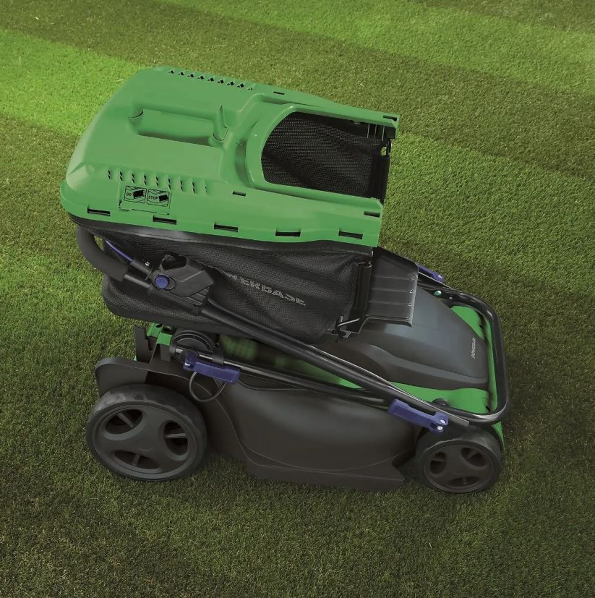 (P8) 1x Powerbase 41cm 1800W Electric Rotary Lawn Mower RRP £119. Contents Appear As New – Clean, - Image 2 of 5