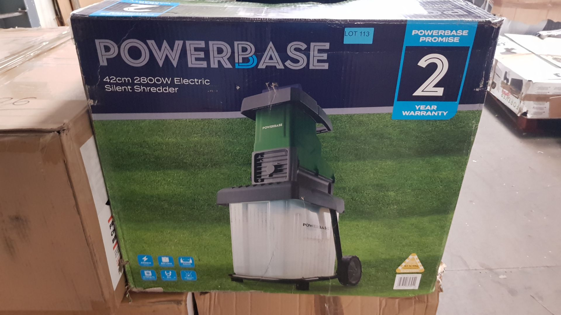 (P3) 1x Powerbase 42cm 2800W Electric Silent Shredder. RRP £175.00. Unit Appears Clean, Unused With - Image 3 of 5