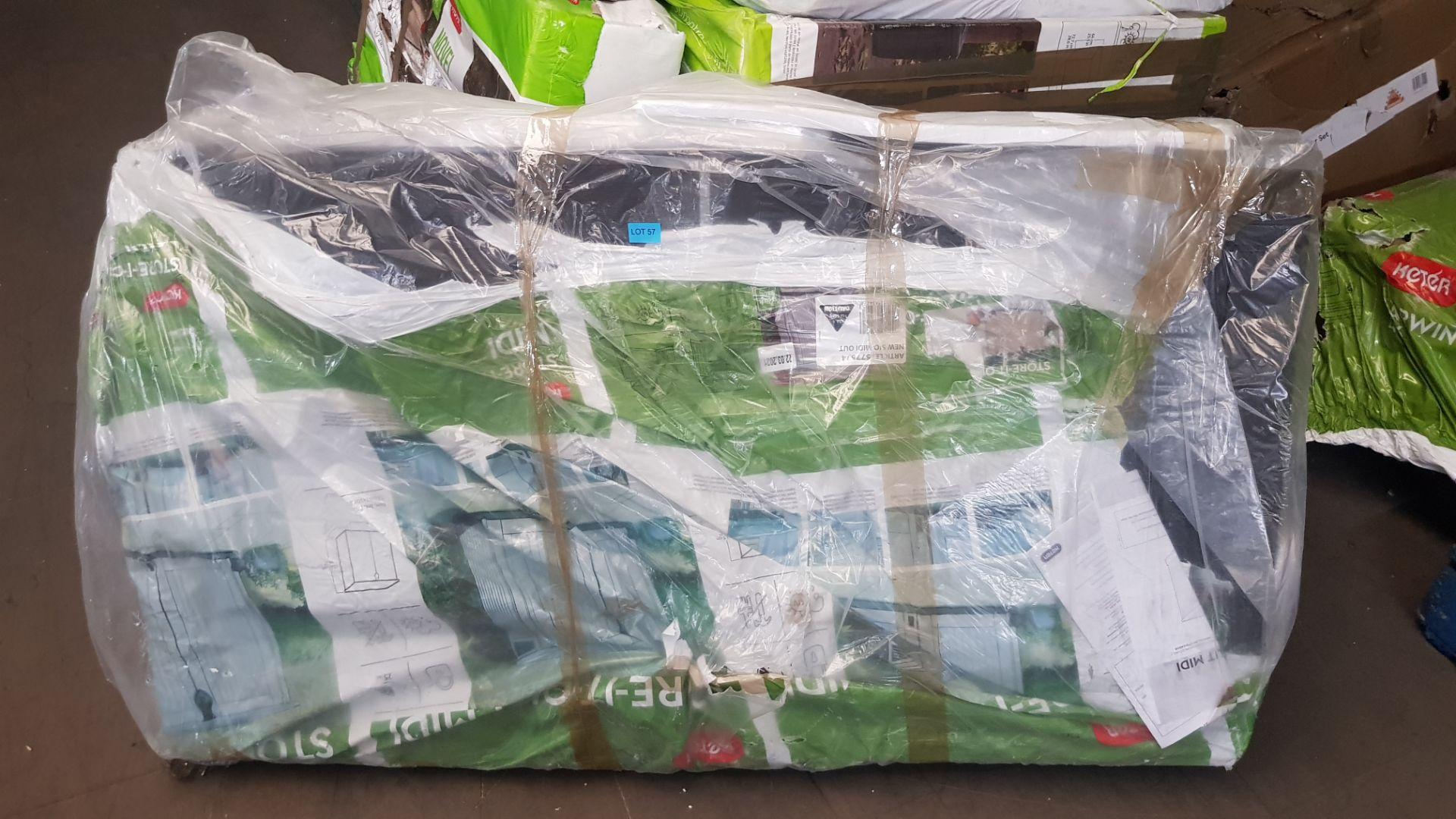 (P4) 1x Keter Store It Out Midi 845L RRP £105. (H110x W74x L130cm) - Image 2 of 2