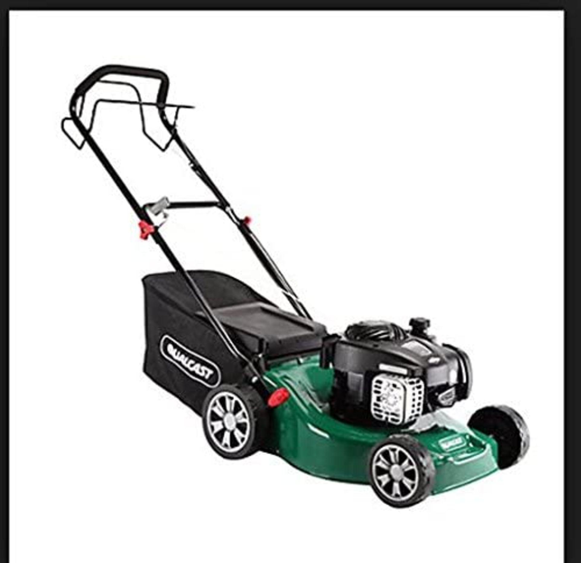 (P5) 1x Powerbase 41cm 125cc Pish Petrol Rotary Lawn Mower. RRP £199.00. Unit Is Clean, Appears N - Image 2 of 5