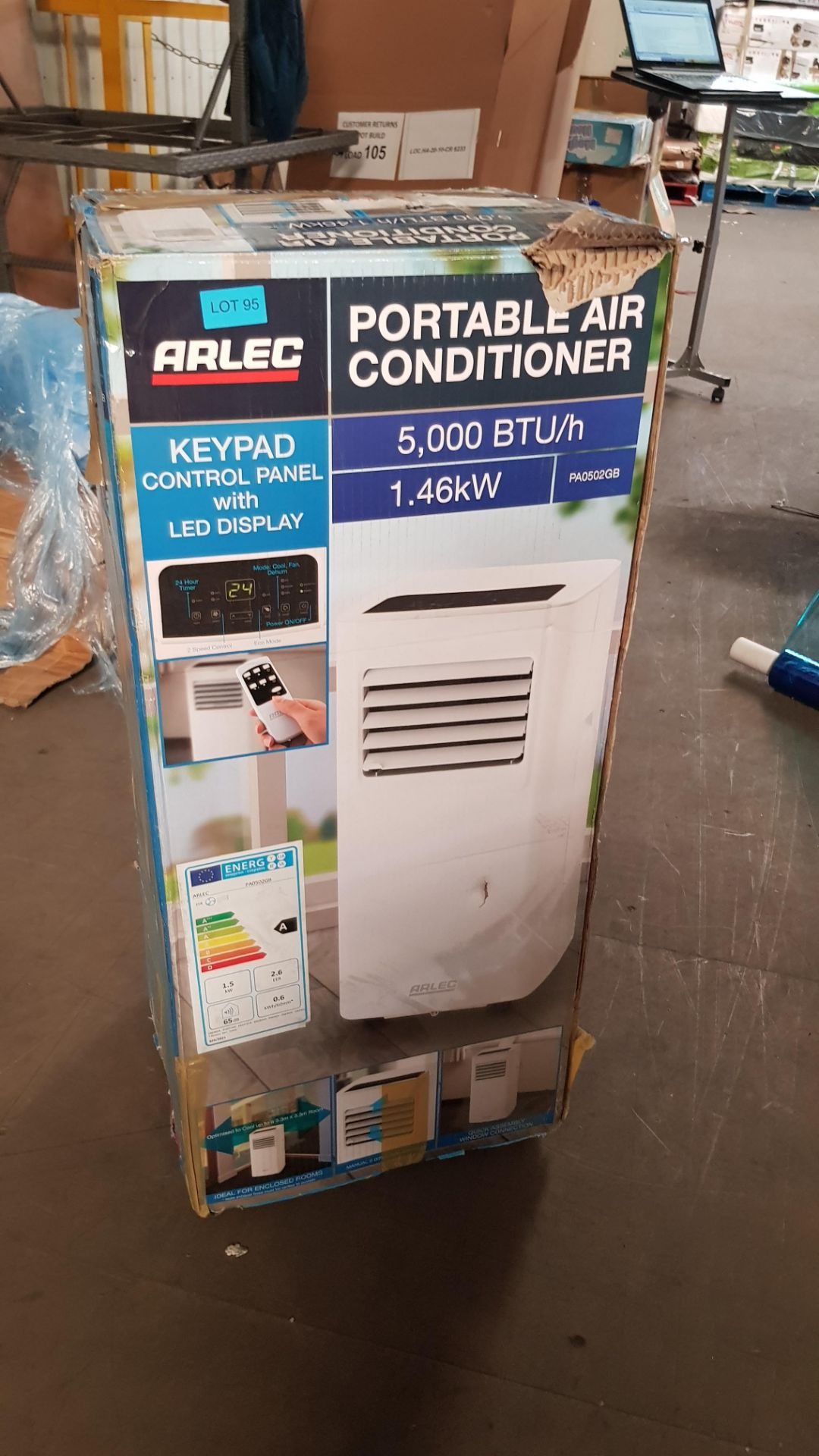 (P2) 1x Arlec Portable Air Conditioner 5000 BTU/h. RRP £300.00. - Image 3 of 3