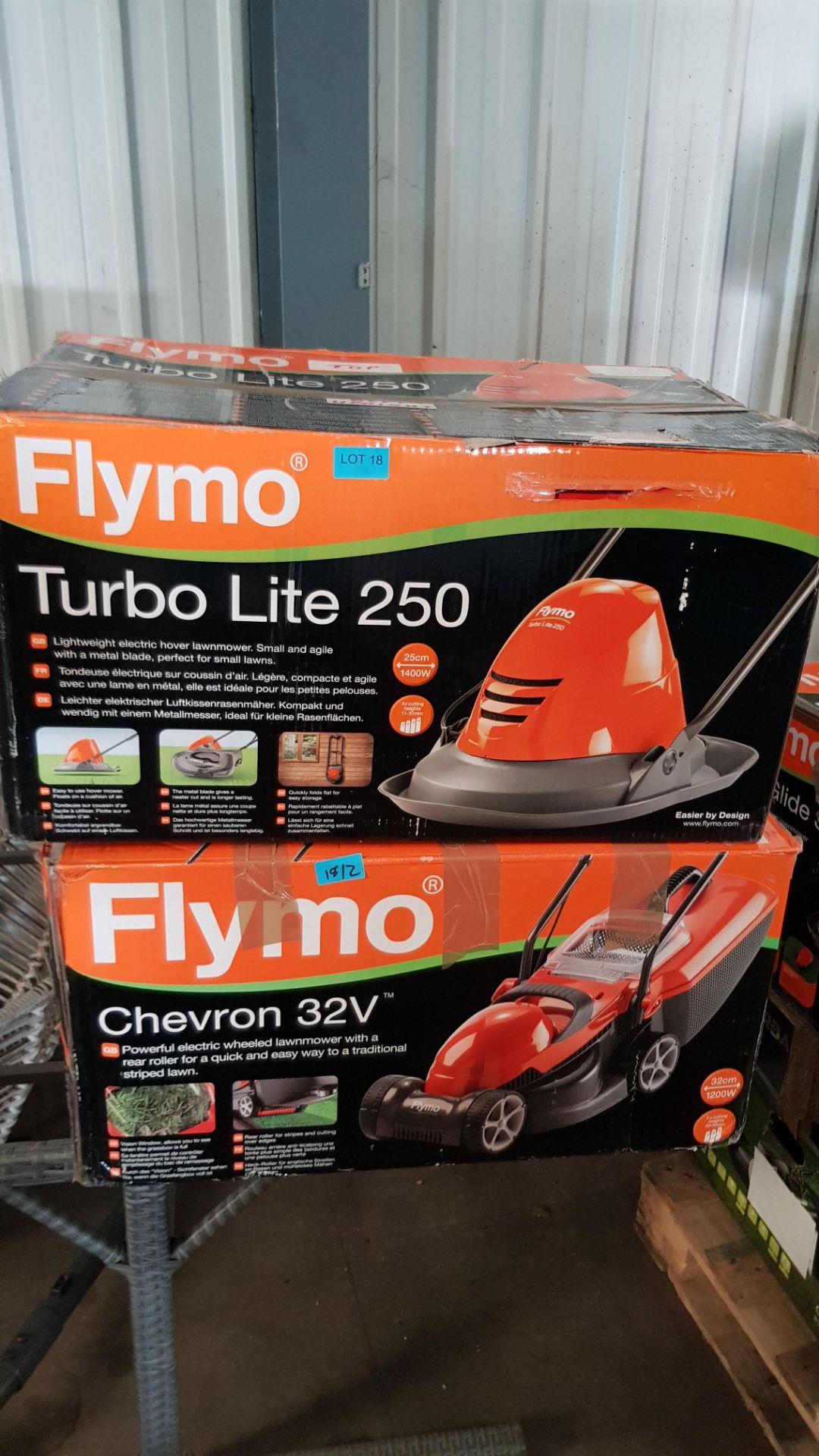 (P9) 2x Flymo Items. 1x Turbo Lite 250, 1x Chevron 32V. - Image 3 of 3