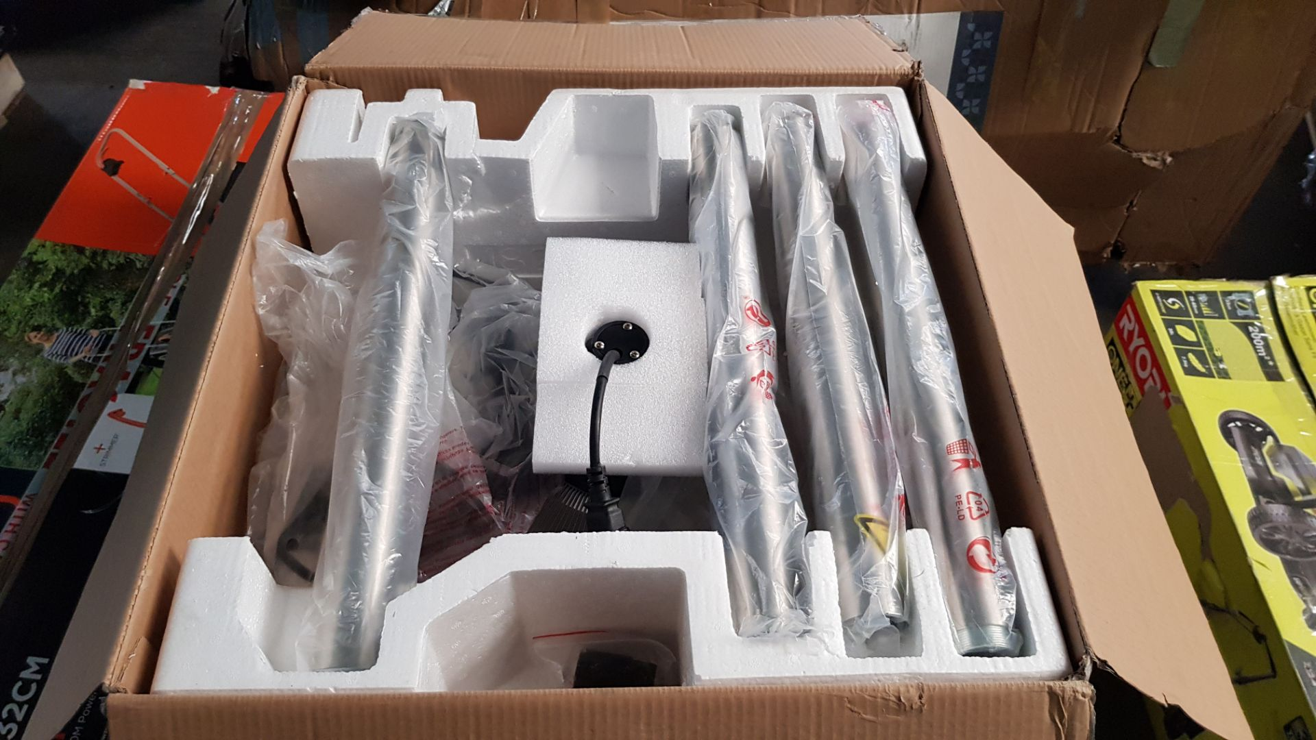 (P5) 1x La Hacienda Lume Standing Heater RRP £99. (H205x D50x Base D40.5cm). Contents In Original P - Image 3 of 3
