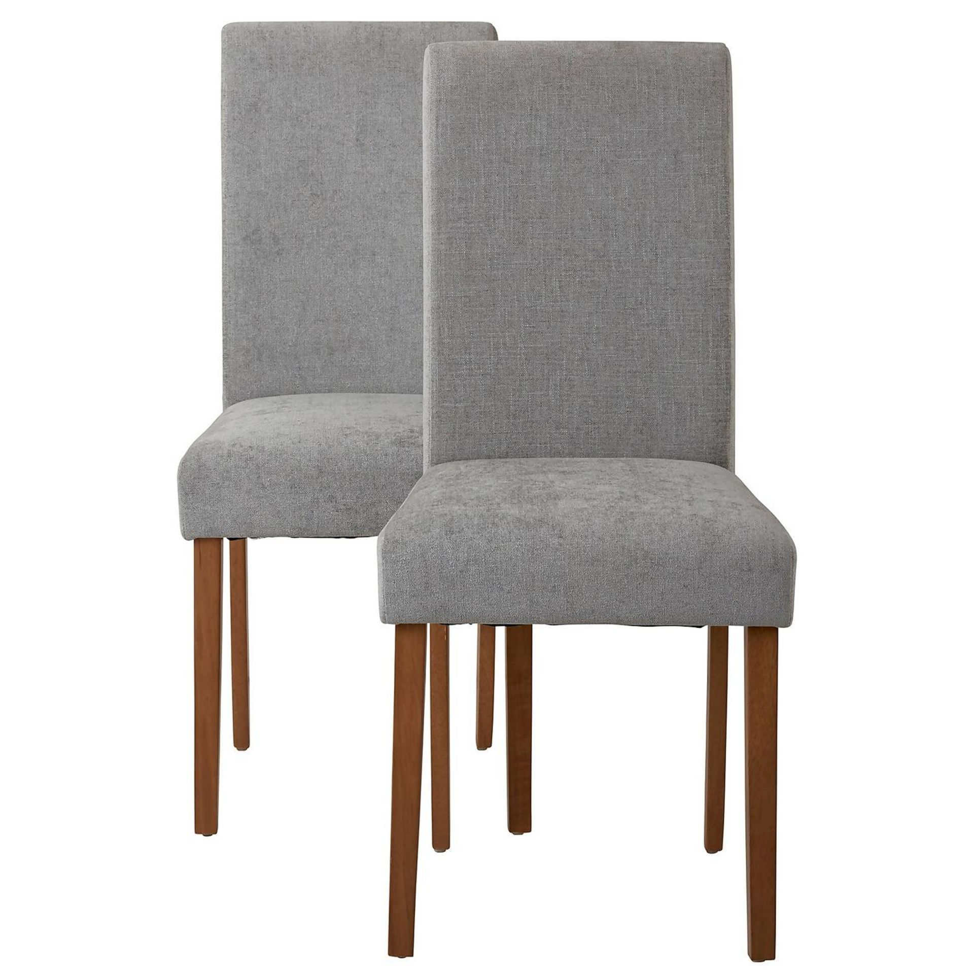 (4P) 1x Diva Dining Chairs. Grey Upholstered Seats. Solid Rubberwood Legs. Unit Complete With Fixing