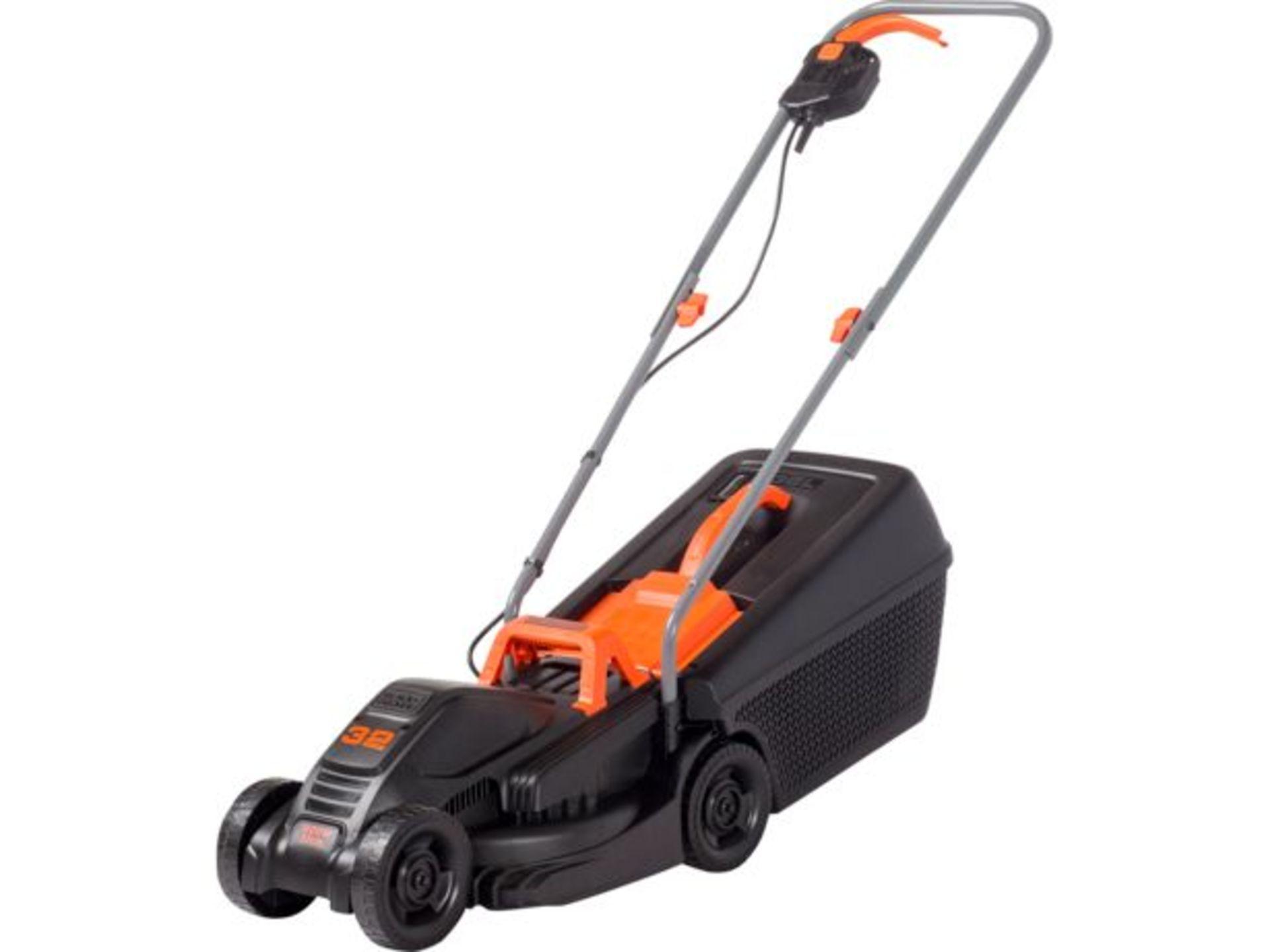 (P5) 1x Black & Decker 32cm 1000W Corded Lawn Mower & Strimmer RRP £99. Contents Appear Clean, Unus - Image 2 of 5