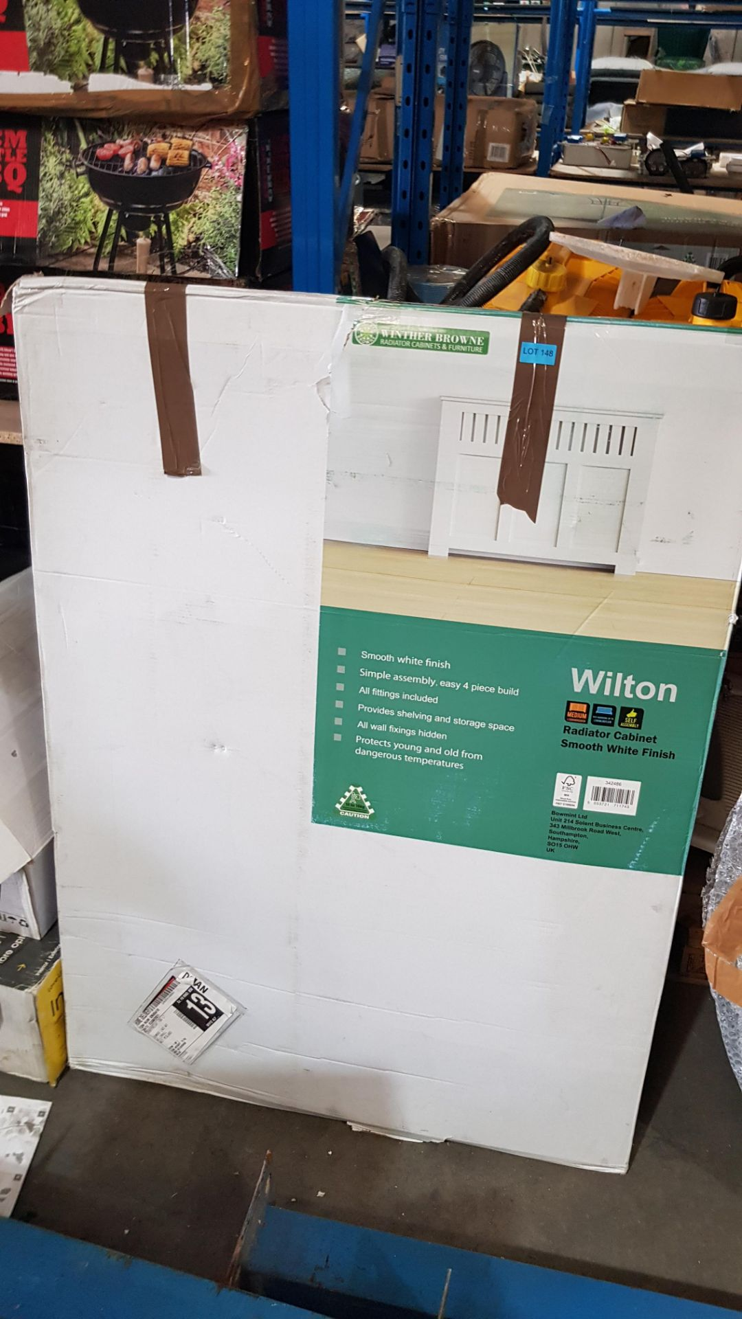 (3F) 1x Winther Browne Wilton Radiator Cabinet Smooth White Finish. - Image 3 of 4