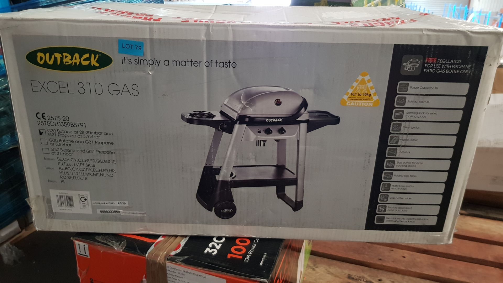 (P5) 1x Outback Excel 310 Gas BBQ Silver RRP £100. Contents Appear Clean, Unused In Original Package - Image 3 of 5