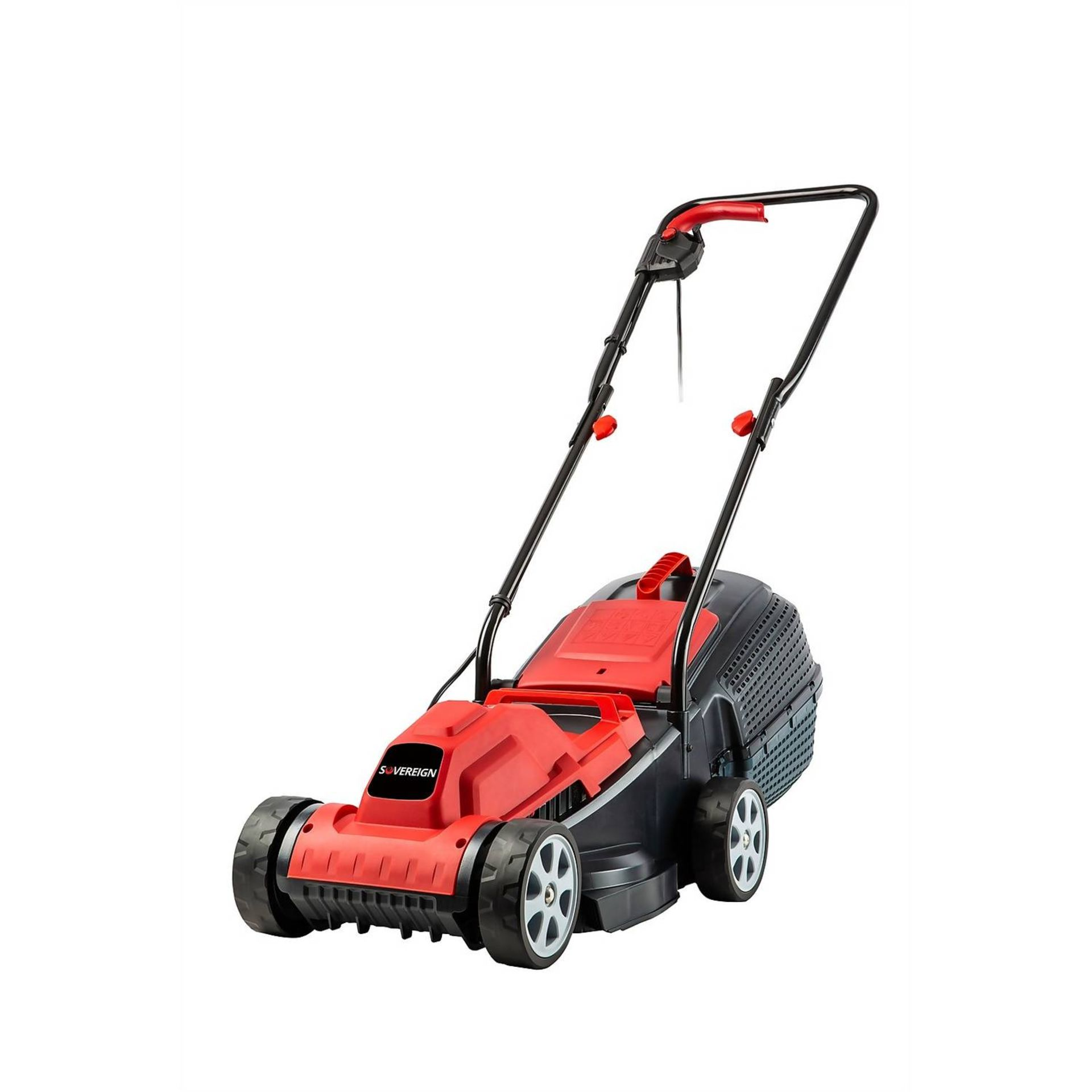 (P6) 1x Sovereign 32cm 1200W Electric Rotary Lawn Mower RRP £50. New, Sealed Unit, With Box Damage.