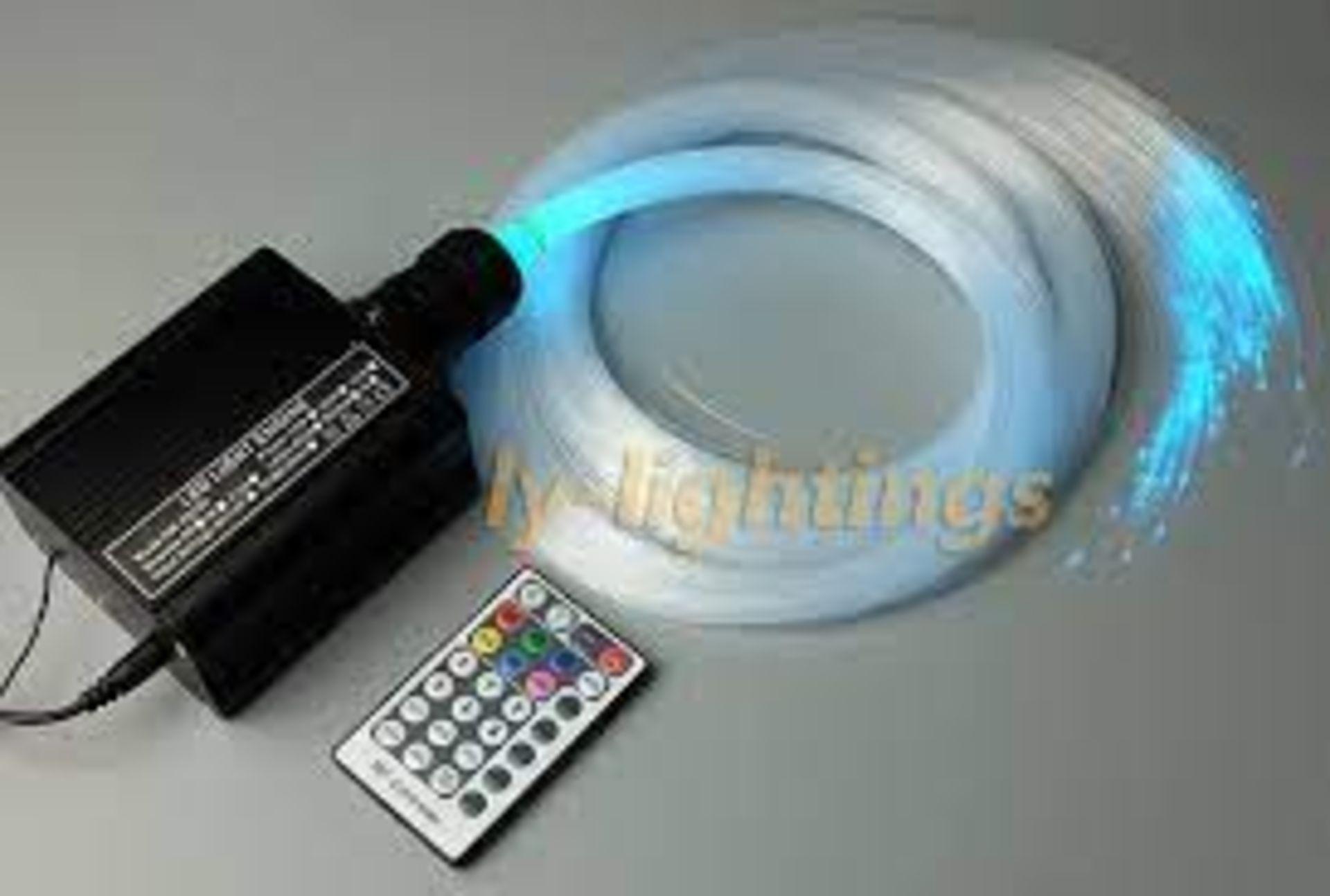 (3F) Fibre Optic / LED Lighting Lot. To Include 1x Optic Lighting InFloor Fibre Optic Lighting Kit.