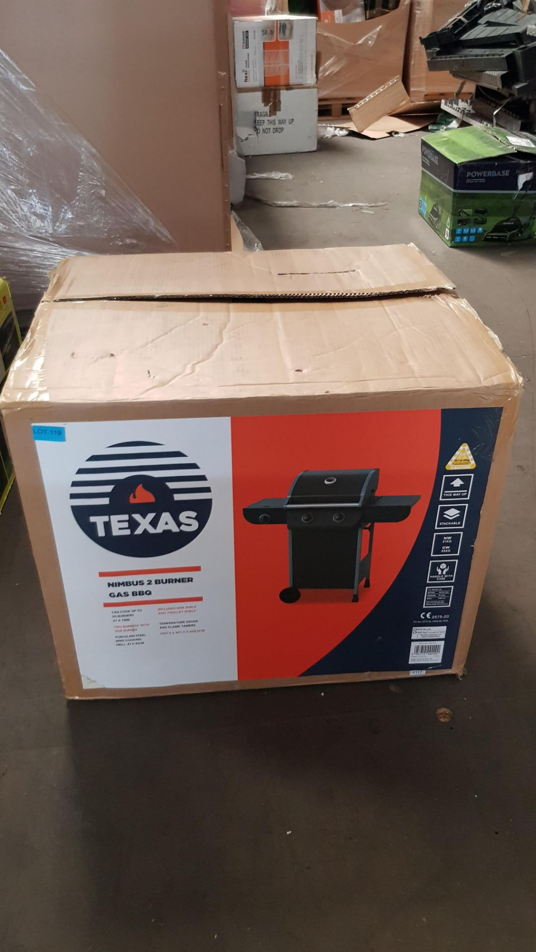 (P3) 1x Texas Nimbus 2 Burner Gas BBQ. Item Appears As New, In Original Packaging With Fixings See - Image 3 of 4