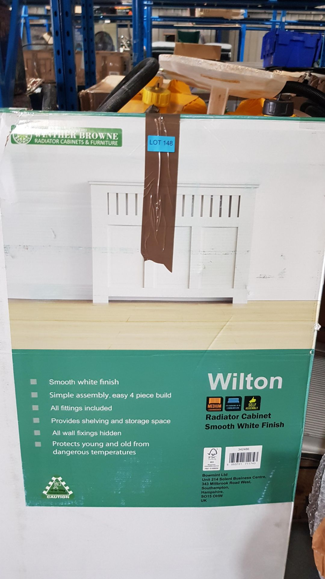 (3F) 1x Winther Browne Wilton Radiator Cabinet Smooth White Finish. - Image 4 of 4