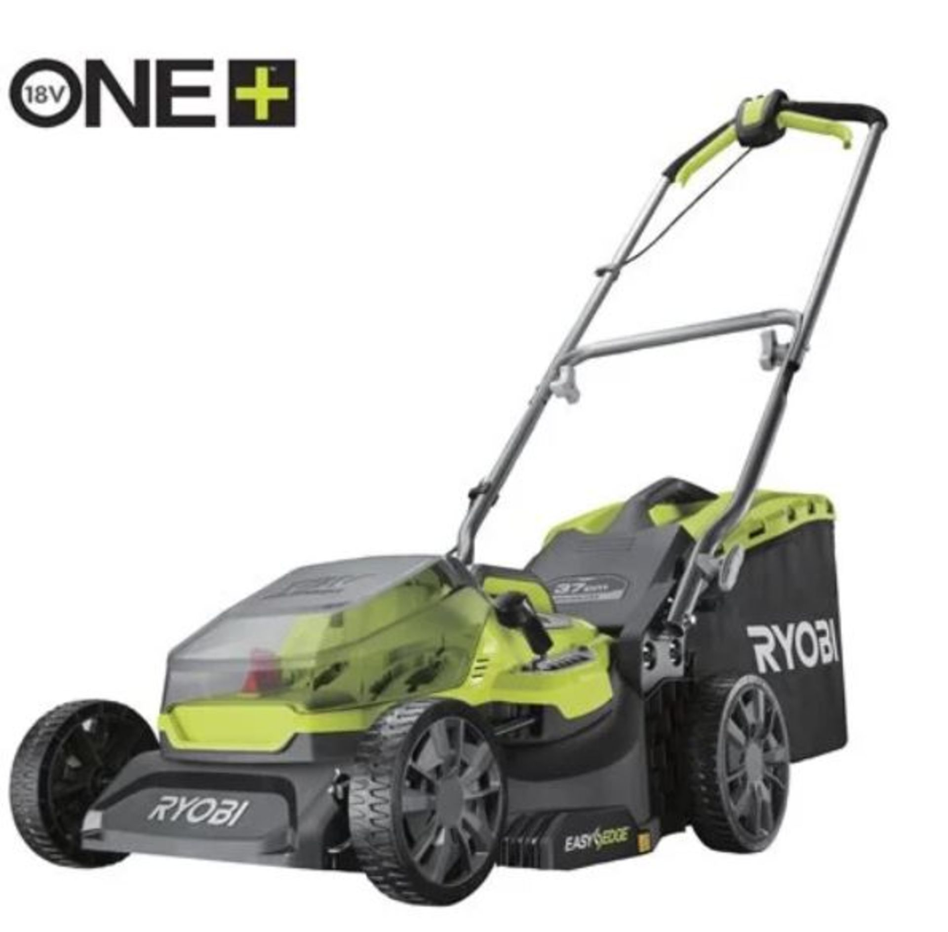 (P9) 2x Items. 1x Ryobi One + Cordless Lawnmower (No Battery Or Charger). 1x Sovereign 57cm Garden
