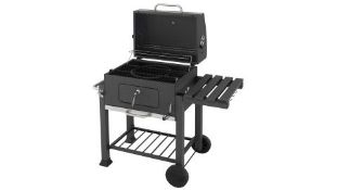 (P8) 1x Texas Franklin Charcoal BBQ. RRP £180.00. New, Sealed Unit With Slight Box Damage.