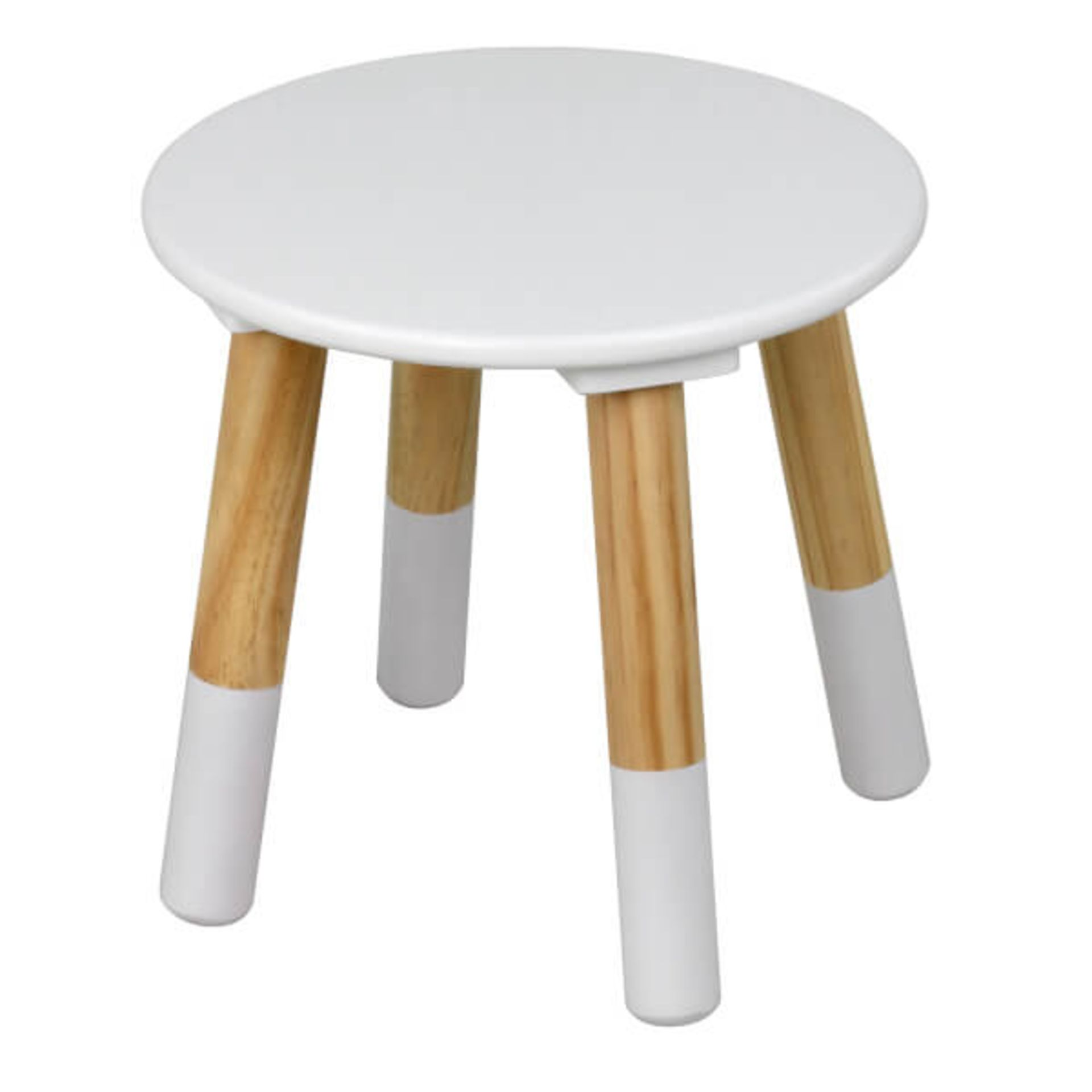 (P3) 1x Flexi Storage Kids Round Table With 2x Stools. White / Oak Finish. Table: H485x W595mm. S - Image 2 of 3